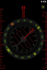 Orienteering Compass App with Night Vision