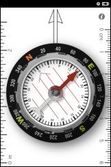 Orienteering Compass App with Protractor